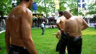 Oil Wrestlers At Nigrita Serres Greece