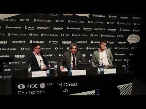 World Chess Championship 2018 Game 2 Press Conference