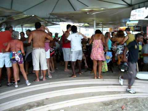 Club dancing at Copacabana Beach Rio de Janeiro Brazil