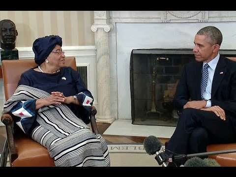 President Obama Meets with President Sirleaf of Liberia