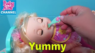 BABY ALIVE Feeding and Changing with My Baby Ballerina Doll with Baby Alive Channel