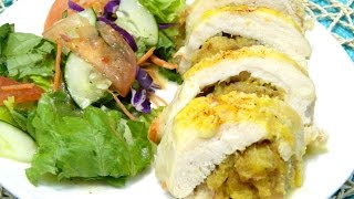 Sweet Plantain stuffed Chicken Breast or Pechuga Rellena con Maduros