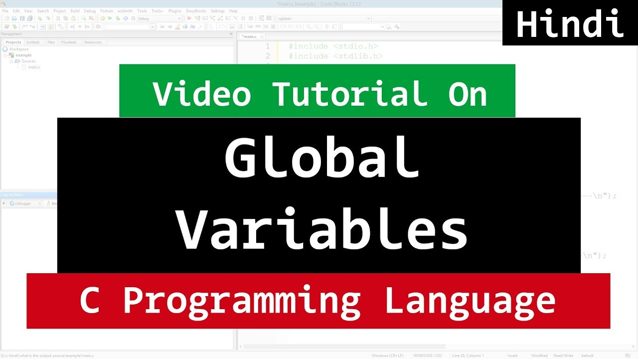 Global variables in c programming language video tutorial in hindi global variables in c programming language video tutorial in hindi baditri Gallery