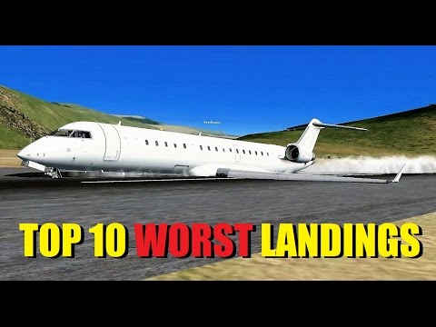 FSX Multiplayer: Top 10 WORST Landings - High Altitude Landing Competition