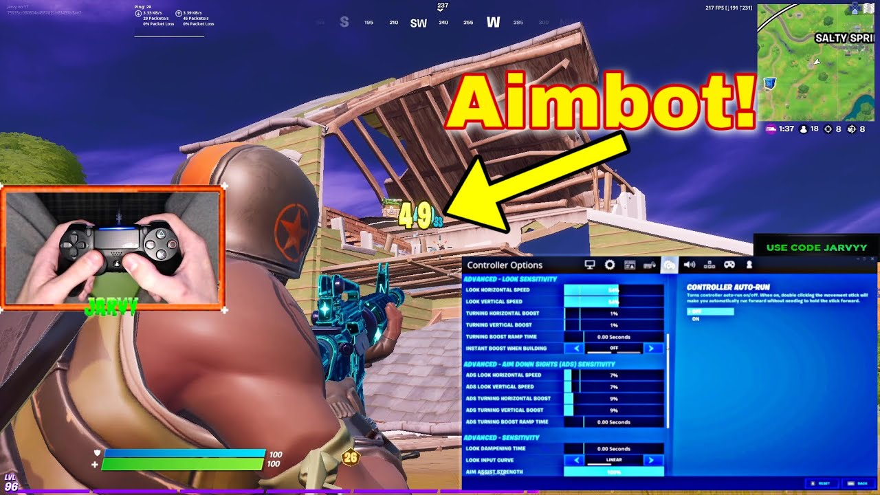 """""""Back At It"""" (But Its Aimbot on Linear) with Handcam + Best Controller Settings for (PS4/PC/XBOX)"""