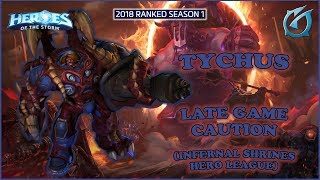 Grubby | Heroes of the Storm - Tychus - Late Game Caution - HL 2018 S1 - Infernal Shrines