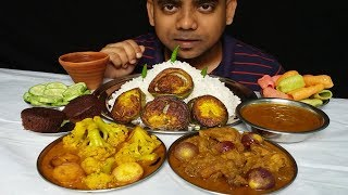 Spicy Chicken Curry Eating With Rice Super Delicious Food