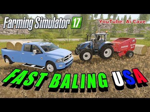 Farming Simulator 2017 FAST BALING - DODGE, NEW HOLLAND & MASCAR 2120 Mods