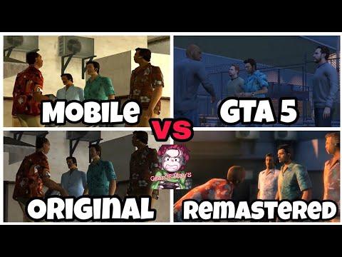 Comparison- GTA Vice City Mobile Vs Original Vs Remastered Vs GTA 5[GTA Vice City Intro]