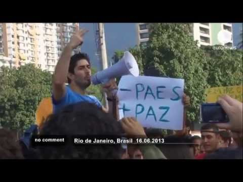 Brazil Uprising 2013 - Protests in Brazil against high cost of hosting 2014 World Cup
