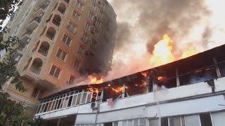 Пожар на улице Цюрупы в Сочи - свидетельства очевидцев