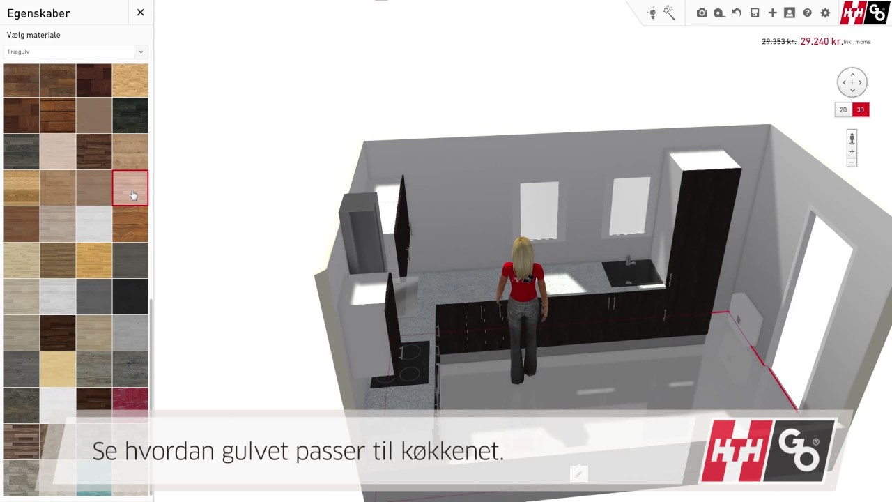 Enormt Tegn dit køkken online med SmartDesigner fra HTH GO - YouTube QS83