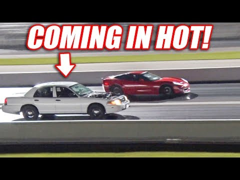 Supercharged Cop Car TAKES DOWN Modded Corvette AND Mustang GT500!