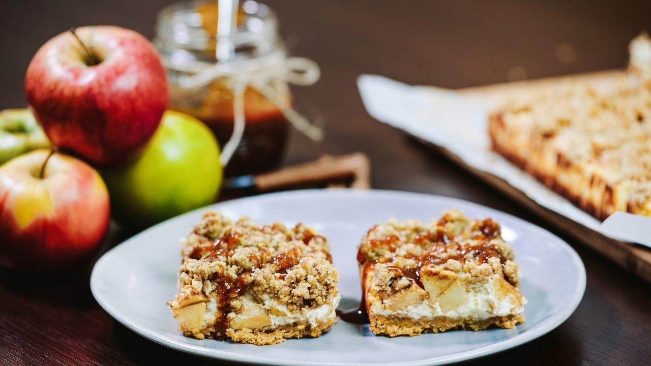 карамельный яблочный чизкейк рецепт