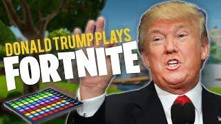 Donald Trump Plays FORTNITE Battle Royale - Soundboard Pranks