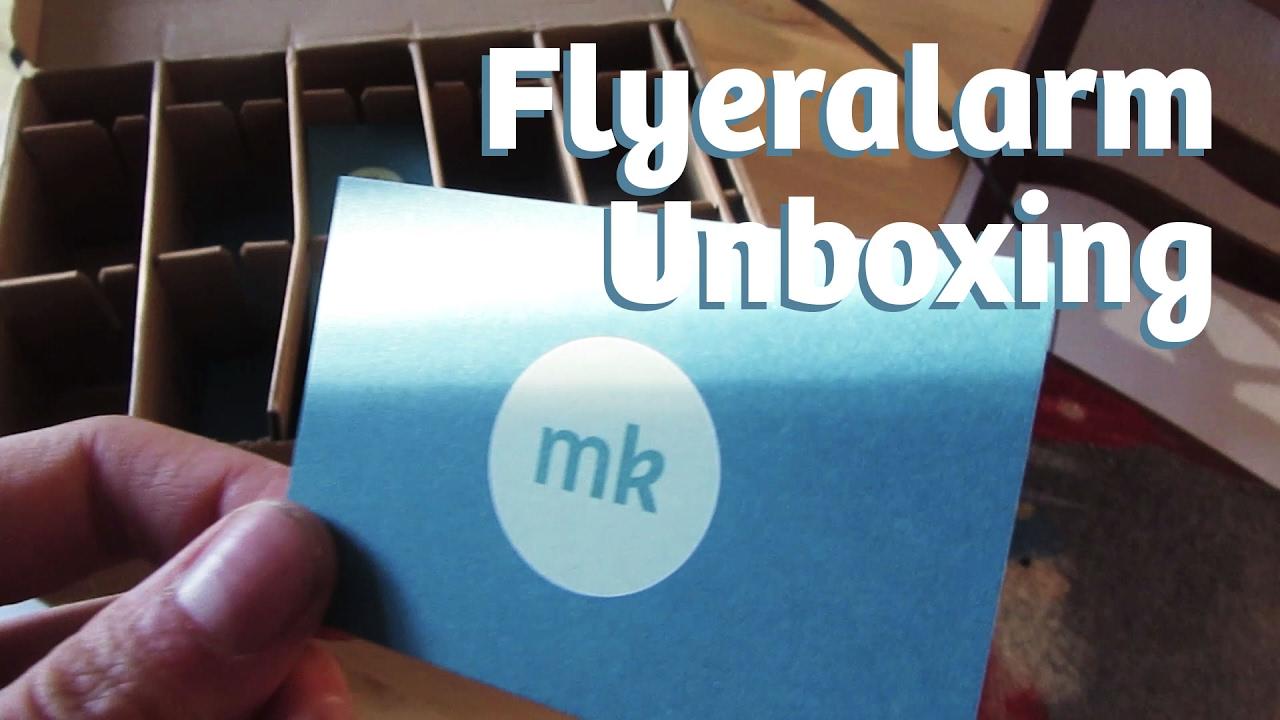 Flyeralarm Visitenkarten Recycling Papier Unboxing