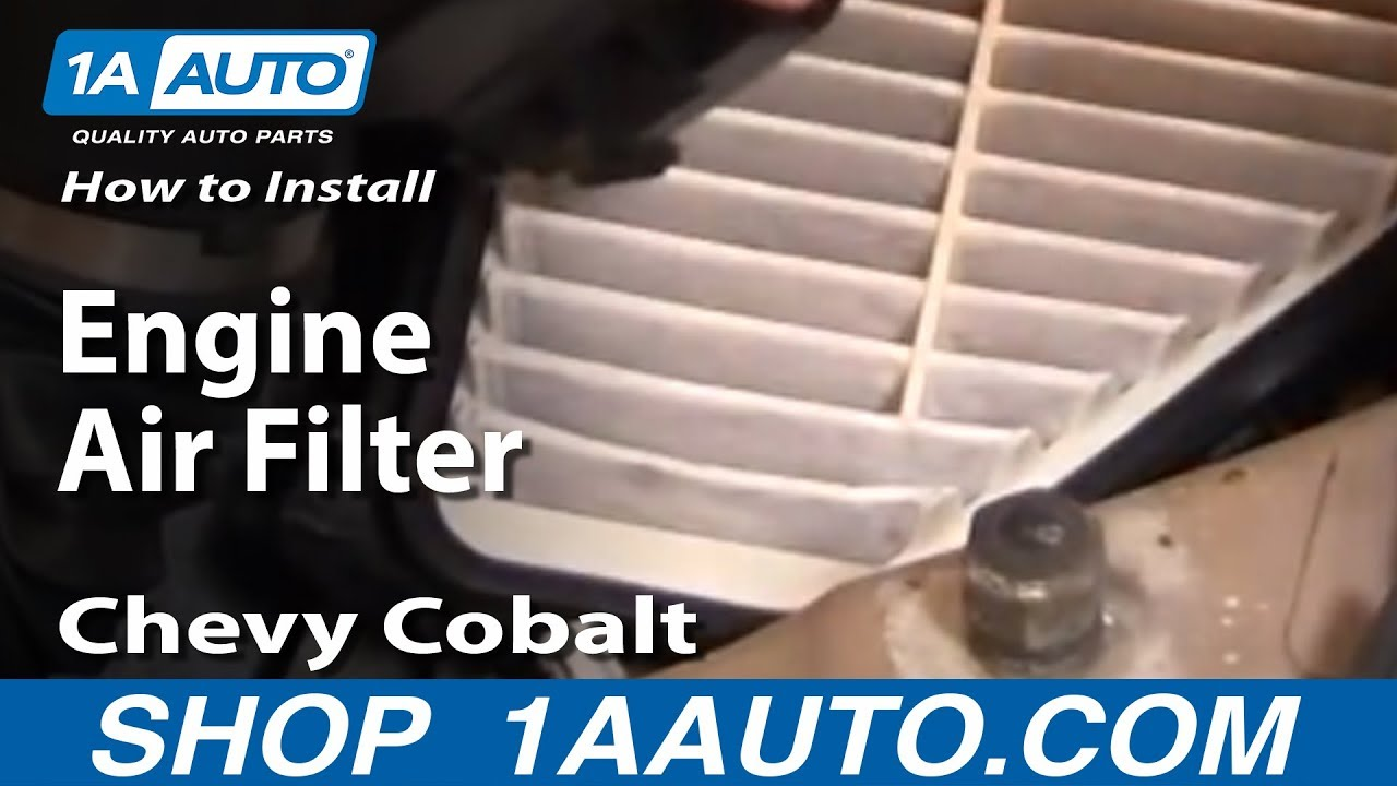how to install replace engine air filter chevy cobalt 2. Black Bedroom Furniture Sets. Home Design Ideas