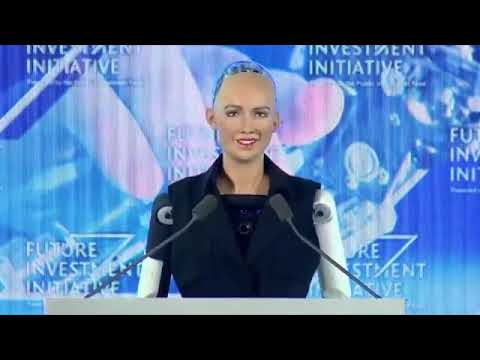 Robot 2018 | Sophia Robot Gets Saudi Arabia Citizenship | Future Investment Initiative 2017 - 2018