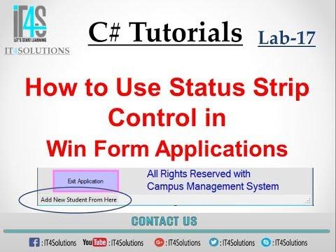 Status strip in c