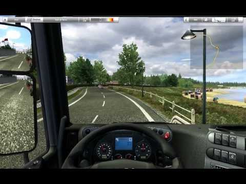 German Truck Simulator - Gameplay #1 Rostock to Kiel