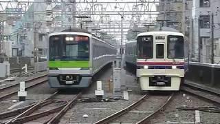 京王9000系9747F京王線「本八幡行き」笹塚駅到着