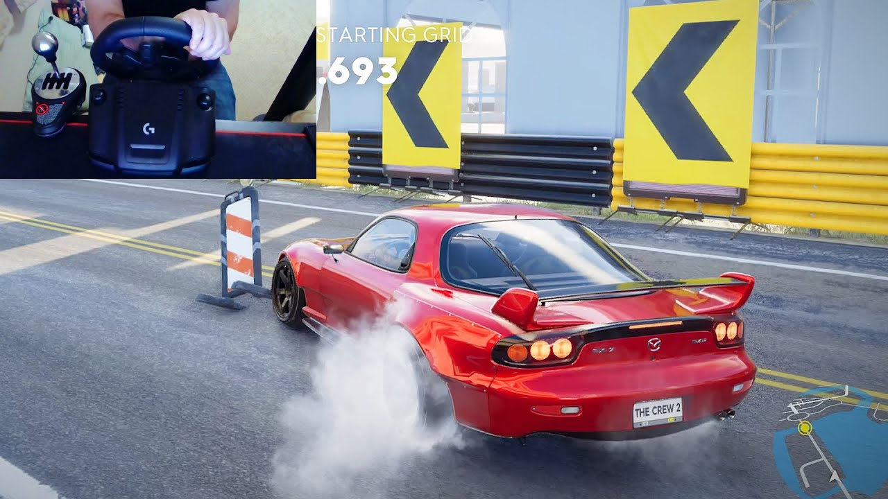 MAZDA RX7 DRIFTING WITH LOGITECH G923 STEERLING WHEEL