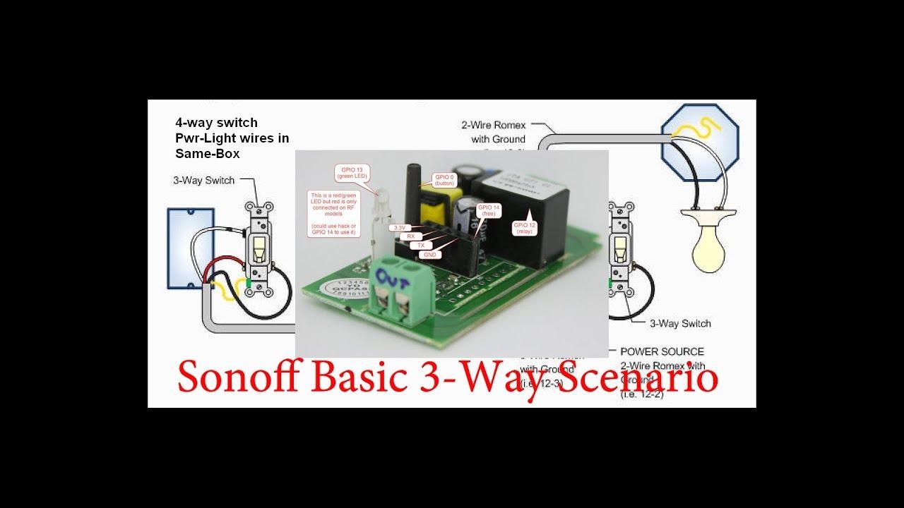 2018 sonoff 3 way switch scenario [ 1280 x 720 Pixel ]