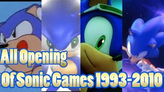 All Openings Of Sonic's Games 1993-2010