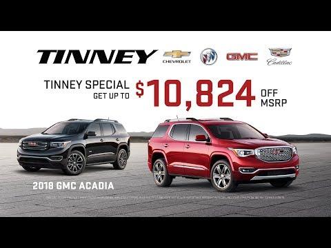 2018 GMC Acadia Sale Price Rebates and Incentives   Tinney Automotive