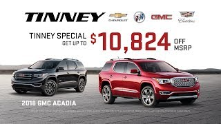2018 GMC Acadia Sale Price Rebates and Incentives | Tinney Automotive