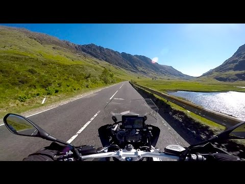Summer riding in the Scottish Highlands on a 2016 BMW R1200GS.