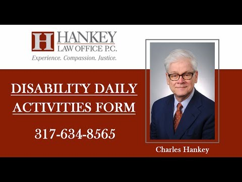 Disability Daily Activities Form | Hankey Law Office | (317) 634-8565