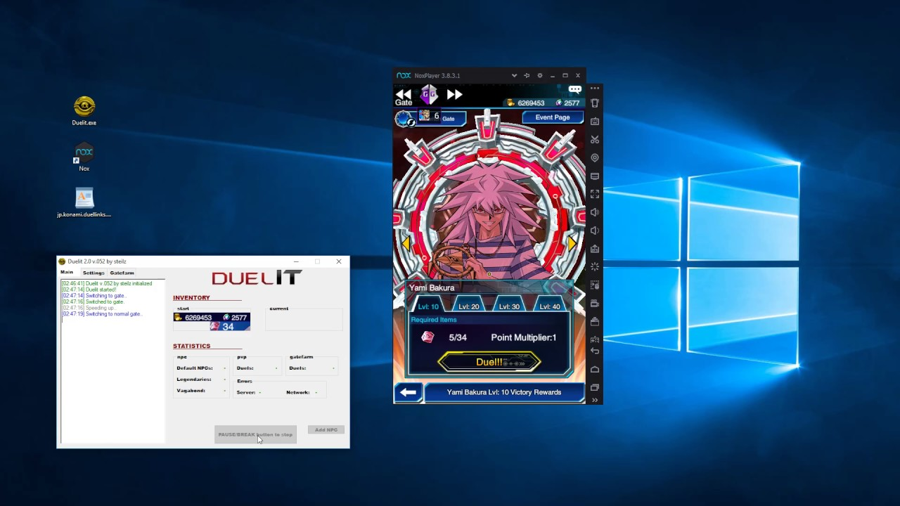 Yugioh Duel Links Bot - Duelit 2 0 NOX tutorial [OUTDATED]