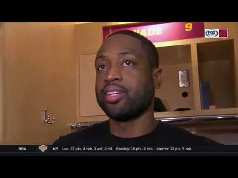 Dwyane Wade cracks postgame smile after joining Cavs' three-point barrage vs. Lakers