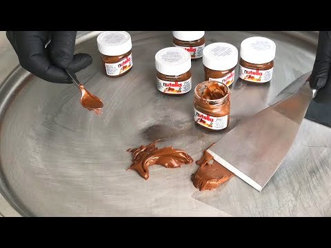 nutella Ice Cream Rolls | recipes how to make nutella to chocolate Ice Cream Rolls (Compilation)