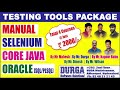 Durgasoft Offered Testing Tools Packages (Manual+Selenium+ Corejava+Oracle) @ 2000