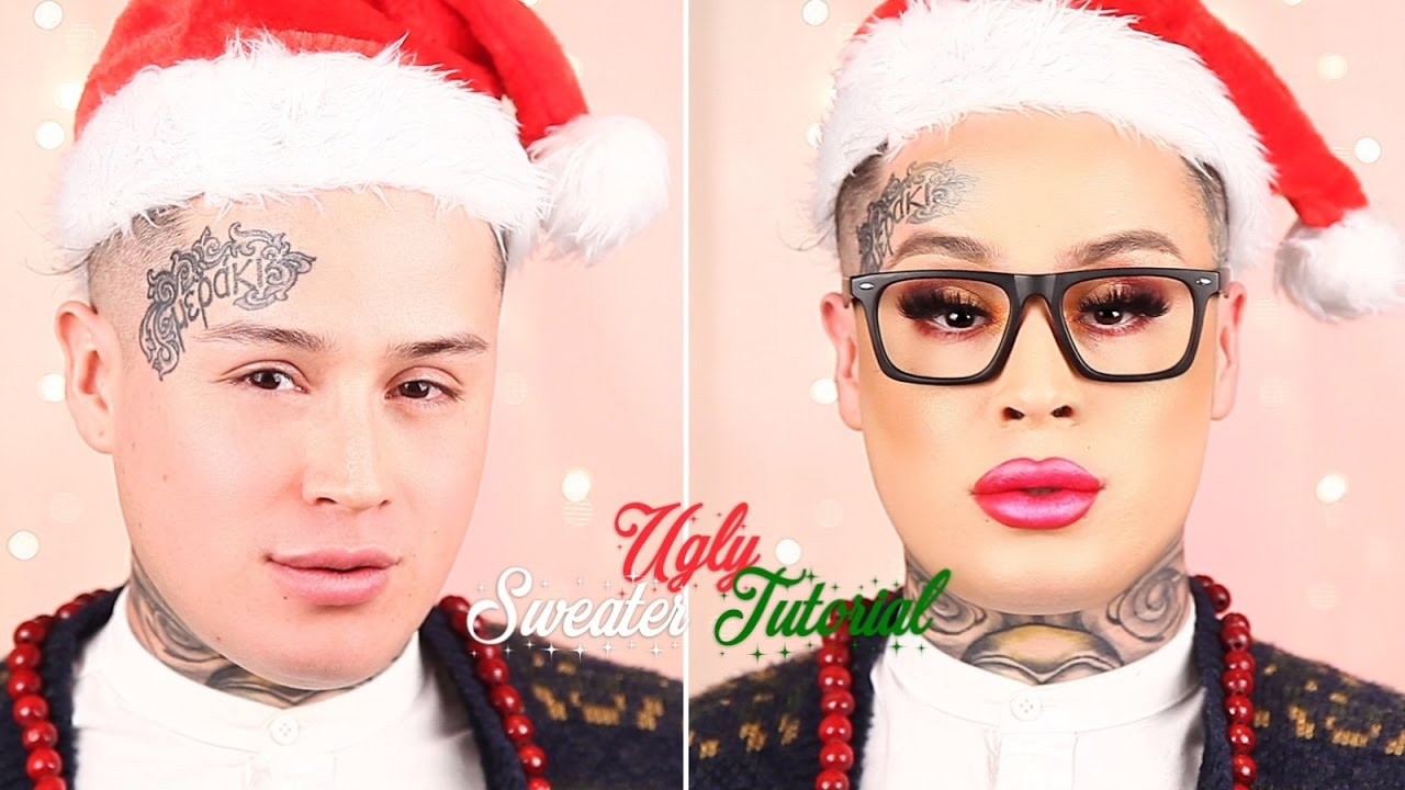 Ugly Sweater Makeup Tutorial -Hank And Henry - Youtube-7510