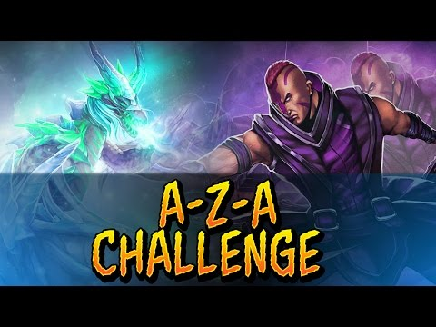 Dota 2 - A-Z-A Challenge - Anti-Mage & Winter Wyvern