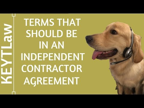 Terms that Should be in an Independent Contractor Agreement