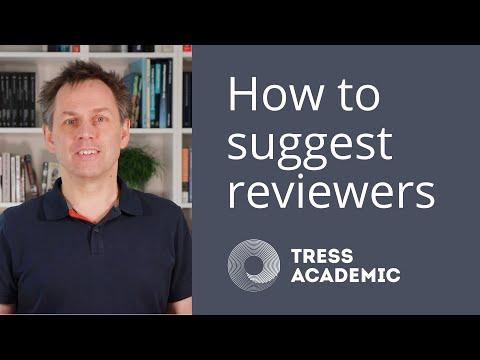 How to suggest reviewers for your journal paper