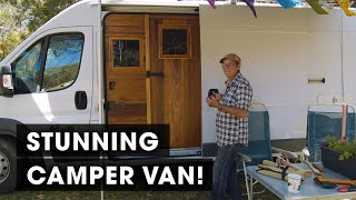 BEST VAN CONVERSION EVER? A Complete Tiny Home for Solo 64-Year-Old Woman (Home on the Road #2)
