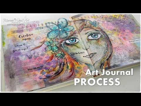 Art Journaling Session for Beginners ♡ Maremi's Small Art ♡