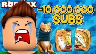 OTTENGO E PERDERE 10.000.000 SUBSCRIBERS !!! | Simulatore Youtuber Di Roblox
