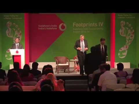 Launch of Footprints IV –Vodafone India's Annual Sustainability Report 2013-14-VOD