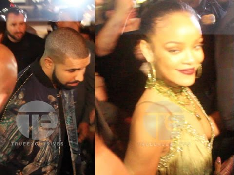 Rihanna & Drake Arrive & Leave VMA After Party Together