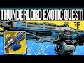 Destiny 2 | How to Get THUNDERLORD! - Three Week Exotic Quest, Cryptarch Journal Pages & Cheese!
