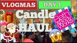 BATH AND BODY WORKS CANDLE DAY HAUL 2018