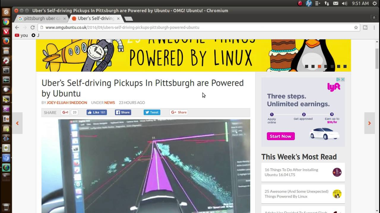 Uber Self Drive Cars With Ubuntu Linux!