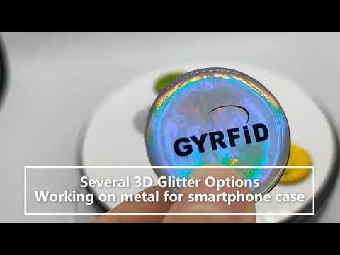 New Arrival Glitter RFID Stickers for smartphone instead of old key cards