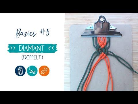 Makramee ANLEITUNG - Basics (Diamant doppelt)